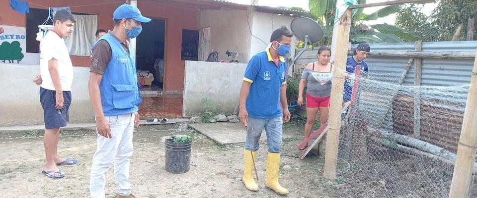 COLOCACION DE MALLA PARA HUERTOS FAMILIARES Y SUPERVISION DE LOS POLLITOS.